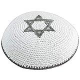 Body-Soul-n-Spirit Kippahs Kippa crochetée étoile de David Doree Ethnique traditionel yamaka Mitzvah juive