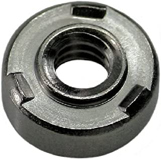 M4 THD x .77 thk Stainless QTY-25 Unicorp EWNS-M4-0 Round Projection Weld-Nut Self-Locating