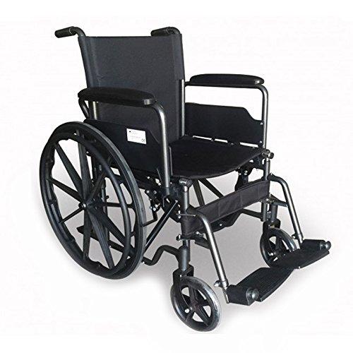 Mobiclinic, Modell S220, Rollstuhl, Premium Faltrollstuhl, Selbstfahren, Leichtgewicht mit Vollgummirädern, Sitzbreite 40 cm, für ältere und behinderte Menschen, aus Stahl