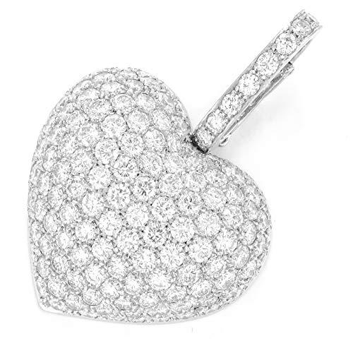 Ciondolo a forma di cuore brillante realizzato a mano.