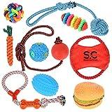Stone and Clark Puppy Toy Set 10 piezas de juguetes para masticar perros,...
