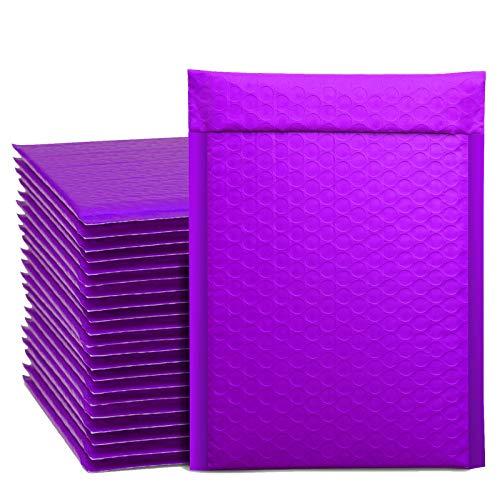 Switory 50 piezas A5 15,3cm×26,9cm cartero de burbujas relleno sobre burbujas revestido de burbujas cartero de burbujas sellado color púrpura