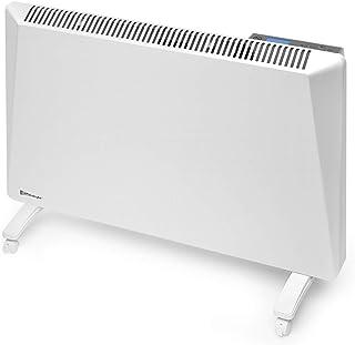 Radialight® Sirio - Termoconvector eléctrico portátil de bajo consumo, control digital de temperatura, programable, ecológico, calefactor de ahorro energético, protección de humedad IP24 1000W Bianco