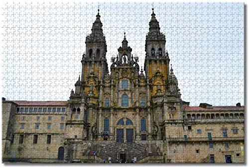 Puzzle  España Santiago de Compostela Rompecabezas para Adultos Niños 1000 Piezas Juego de Rompecabezas de Madera para Regalos Decoración del hogar