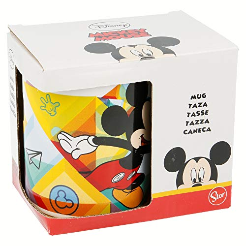 TAZA CERAMICA 325 ML CON CAJA | MICKEY MOUSE COLOR FLOW