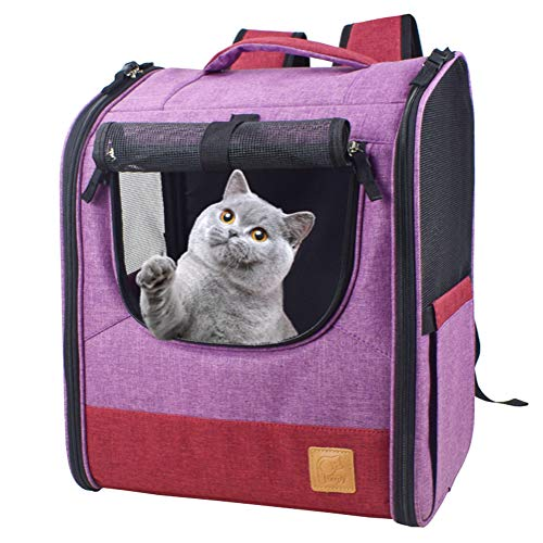 Suerico Pet Carrier Backpack for Cat Dog Puppy up to 15 LBS Airline Approved,Travel Carrier for Pets...