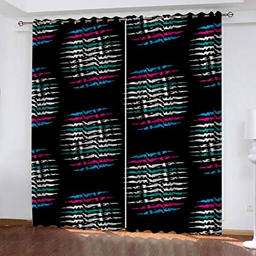 MMHJS Geometric Pattern Curtain Vertigo Effect European-Style Personalized Decorative Curtain Suitable For Garden, Balcony, Bedroom