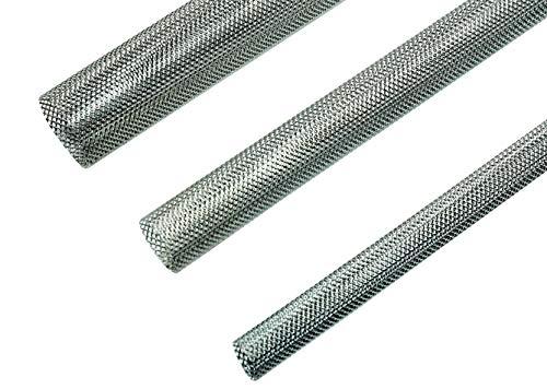 SN-TEC Siebhülsen | Ankerhülsen | Gitterhülsen mit feinem Metallgitter 1000mm ( Größenwahl M6 bis M16 ) (2, 16mm für M10 bis M12)