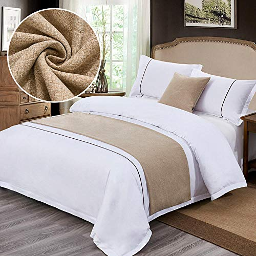 QIUhoodies Bed Runners King Bed Runner Bedding Scarf Protection Bed Flag Modern Bed Tail Towel Bedding Decor Size//Double//Single//King Size Bed