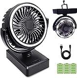 Mini Ventilatore da Tavolo USB, Con Batteria da 6000 mAh Ventilatore USB può Mettere Oli per Aromaterapia Ventilatore regolabile a 3 Velocità per Casa, Ufficio ,Campeggio