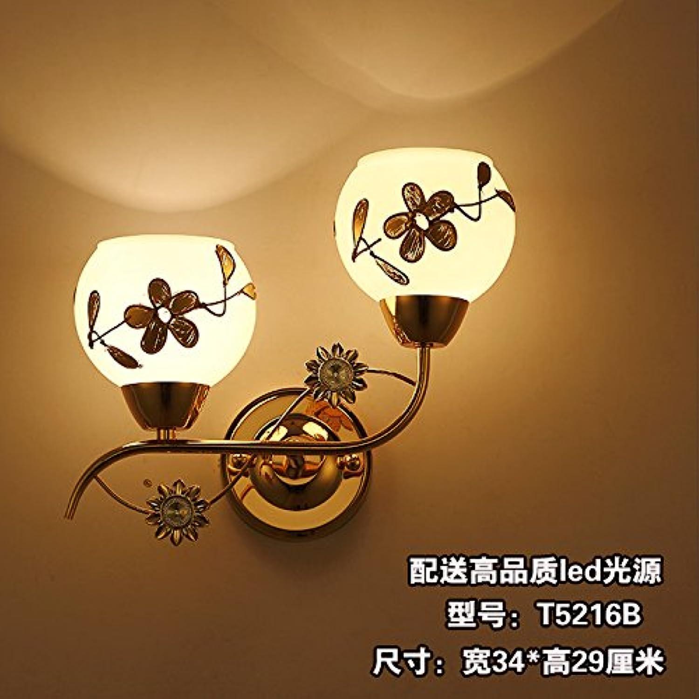 StiefelU LED Neue klassische Wandleuchte Schlafzimmer mit Bett Wandlampen, Wandleuchten Treppen in Baustellen hotel Wand Lampen, T5216B Grünrieb von hochwertigen LED-Lampe