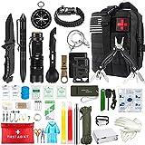 Kit de Supervivencia,Bolsa de Herramientas Multifuncional con Manta de Emergencia Equipo de Supervivencia de Emergencia para Viajar Caminar Acampar al Aire