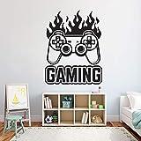 wZUN Gamer Sticker Mural contrôleur Jeu vidéo Sticker Mural Chambre décoration de la Chambre Vinyle Autocollant Mural Amovible 50X63 cm