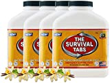 720 tabs Survival Tabs 60-Day Emergency Survival MREs Meals Ready-to-eat Bugout for Travel Camping Boating Biking Hunting Activities Gluten Free and Non-GMO 25 Years Shelf Life - Vanilla Malt Flavor