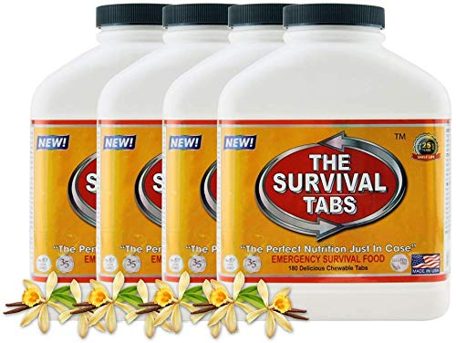 720 tabs Survival Tabs 60-Day Emergency Survival MREs Meals Ready-to-eat Bugout for Travel Camping Boating Biking… 3