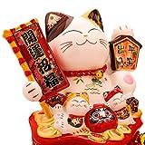 LIUKLAI Hucha De Dibujos Animados de cerámica Hucha De Monedas para niños ahorrando Gato de la Suerte Hucha Japonesa Huchas...