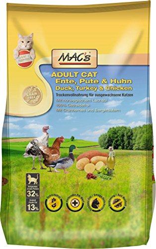 Mac's Katzenfutter getreidefrei Adult Ente, Pute & Huhn, 1.5 kg