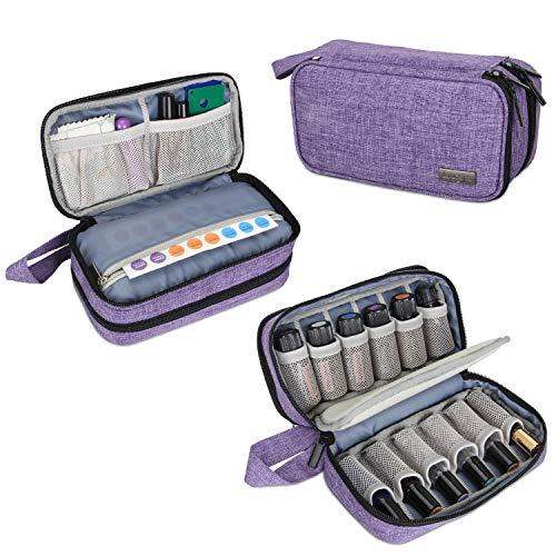Luxja Caja para Aceite Esencial Organizador para Aceite Perfumado y Accesorios(También Aptos para botella de rodillo)