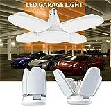 Hahuha LED-Licht, LED Garage Shop Arbeitsscheinwerfer Home Deckenleuchte Verformbare Lampe 60W 5400lm E27, LED-Licht