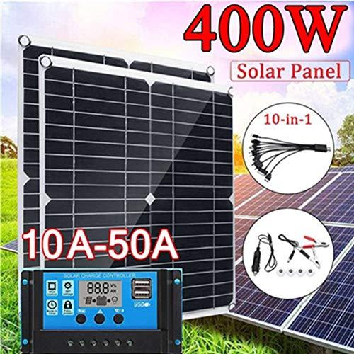 LAMP-XUE 20V 400W Zonnepaneel Monocrystallinel Zonne-energie Batterijlader met 10A-60A Controller Controller voor Auto Jacht Batterij Boot RV