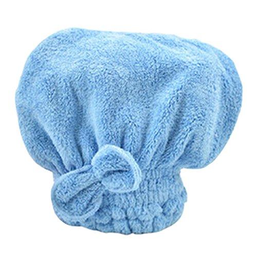 Douche séchage des cheveux Cap super absorbant l'eau Cap Bath Cap Bleu