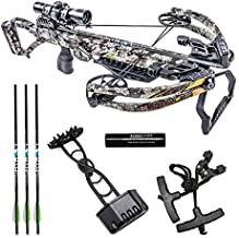 Killer Instinct Crossbows Brawler 400 FPS Crossbow Pro Package Kit, Camo, with 4x32 Illuminated Scope, Ultra-Light and Compact