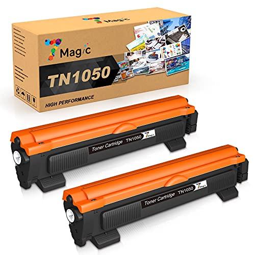 7Magic Cartuccia Toner TN1050 Compatibile per Brother TN 1050 Sostituzione per Brother DCP-1612W DCP-1610W DCP-1510 DCP-1512 MFC-1910W MFC-1810 HL-1212W HL-1110 HL-1210W HL-1112 Stampante (2 Pacchi)
