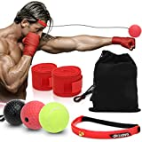 Coolrunner Boxing Reflex Ball, Boxing Ultimate Reflex Ball Set, Boxing Gear Punching Ball Great for Reflex, Focus, and Hand-Eyes Coordination Training for Kids and Adult