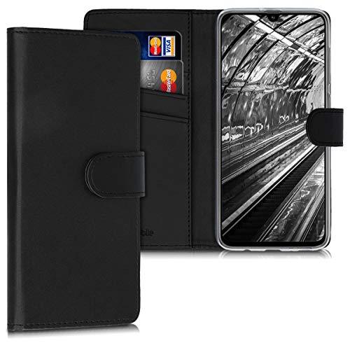 kwmobile Wallet Hülle kompatibel mit Samsung Galaxy A70 - Hülle Kunstleder mit Kartenfächern Stand in Schwarz