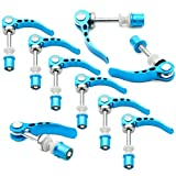 Rowiz Blue Aluminum Alloy Bike Seat Clamp, M6 × 65mm Bicycle Binder Clamp Bolt Seat Post Quick Release, Pack of 10