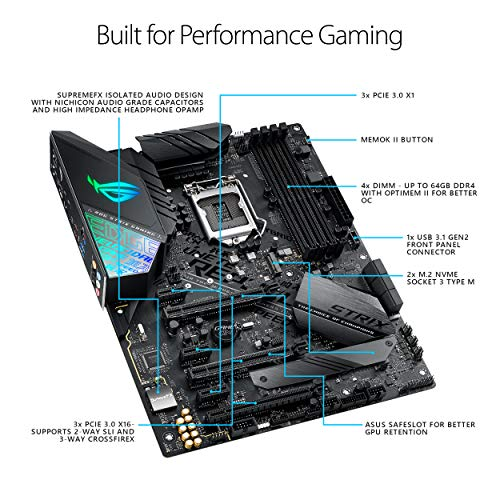 ASUS ROG Strix Z390-F Gaming Motherboard LGA1151 (Intel 8th and 9th Gen) ATX DDR4 DP HDMI M.2 USB 3.1 Gen2 Gigabit LAN Florida