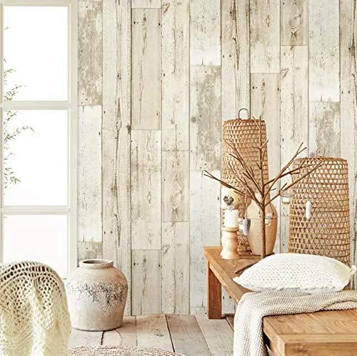 Papel pintado autoadhesivo Tablero de madera Papel tapiz adhesivo Diseño de vinilo Decoración del hogar