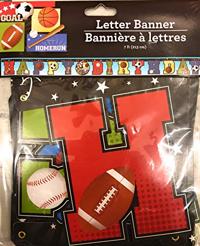 Greenbrier Intl Sports Themed Happy Birthday Letter Banner