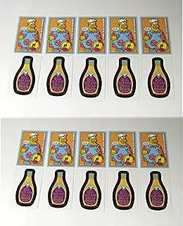 Lot of (10) 2001 Inkworks Simpsons Mania! Promo Card Set (2) Nm/Mt