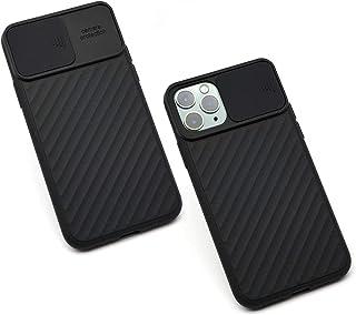 غطاء كام شيلد لاجهزة ابل ايفون 12 برو 6.1 مع غطاء كاميرا منزلق رفيع - اسود