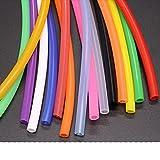 1 metro ID 1 2 3 4 5 6 7 8 9 10 mm Tubo de silicona Manguera de goma flexible Tubo de refresco de calidad alimentaria Conector de agua Colorido-Rosa, ID 10 mm OD 12 mm