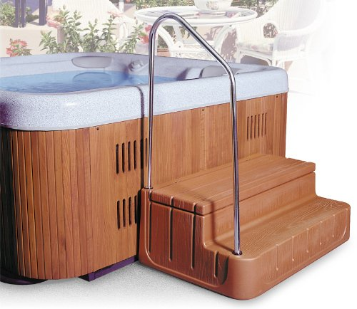 Step 'n Stow 6130340 Concept 1 Spa Steps - Light Redwood