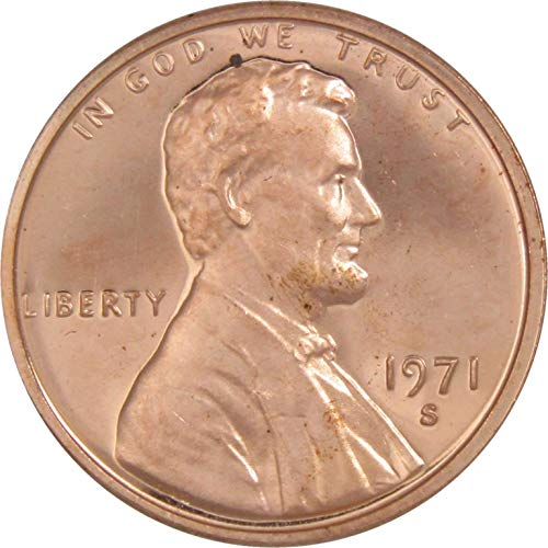 1971 S Lincoln Memorial Cent Choice Proof Penny 1c Coin Collectible