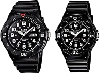 Casio His and Hers Black Dial Resin Band Couple Watch - MRW/LRW-200H-1B