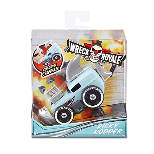 MGA Entertainment Wreck Royale Exploding Crashing Ricky Rodder Race Car with 4 Mix 'N Match Explosive Parts, Multicolor (565710)