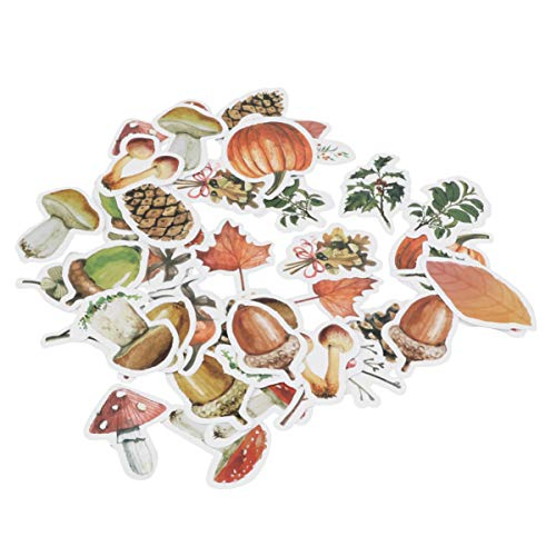 EXCEART 138pcs Scrapbook Stickers Laptop Stickers Decals Sealing Label Decals Cute Autumn Forest Plants Stickers Set Decorative Masking Stickers for Diary Planner Envelop Luggage Windows