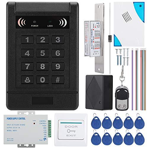 Tür Sicherheit Zutrittskontrollsystem, RFID DIY Voll Komplette Set Tür Access Control Kit für den Haussicherheitsbereich RFID-Türzugangstastatur mit EXIT-Taste