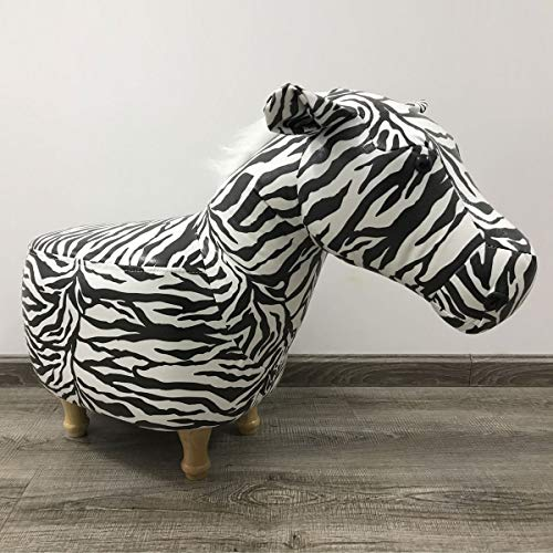 Möbel Akut Tierhocker Polsterhocker Kinder - Hocker Deko - Tiere - Animals (Zebra schwarz/weiß)