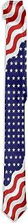 ربطة عنق رفيعة زرقاء اللون العلم الأمريكي - إكسسوارات البدلة الرسمية ربطة عنق للرجال