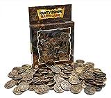 Brynnberg Monete del Tesoro di Plastica, Confezione da 150, Rame (di Rame)