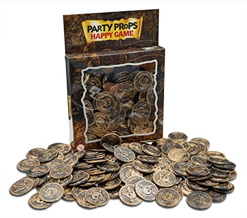 Brynnberg Paquete de 150 Monedas del Tesoro de plástico Color Cobre (Cobre)