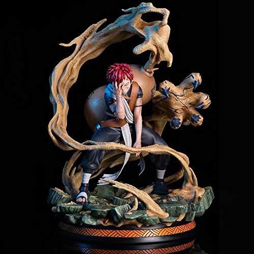 XUEKUN Naruto Action Figure-Gaara-25 Centimetri-Sandstorm-Naruto Gaara Statua-Model-Decorazioni-Anime Character-Bambini Bambola-Giocattolo-Souvenir-Amanti Collection-Regalo Gaara