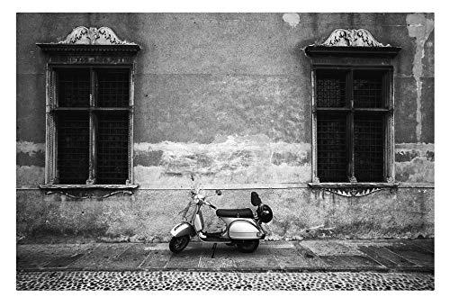 Vespa Piaggio. 1000 piezas de rompecabezas de madera en blanco y negro para adultos y niños juguetes de rompecabezas de ocio y entretenimiento
