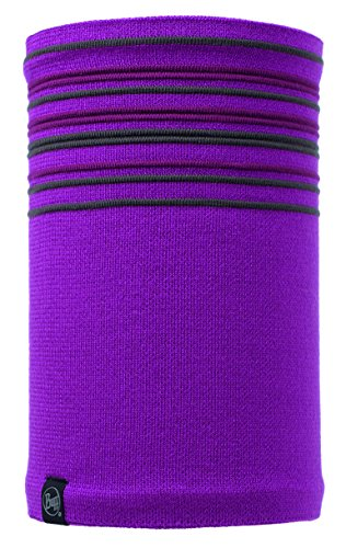 Buff BUF113348.617.10.00 Knit&Polar Neckwarmer Stowe Mardi Unisex-Adult, Madri Grape, Large