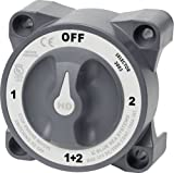 Blue Sea Systems 3003 Heavy Duty Battery Switch with Alternator Field Disconnect, 1-2-Off-Both